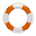 An image of an orange white life saver Royalty Free Stock Photography