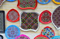 Image of ornamental embroidery at a country fair Royalty Free Stock Photos
