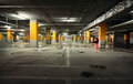 Image of parking garage underground interior Royalty Free Stock Photo