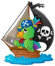 Image with pirate parrot theme 1 Stock Photos