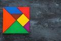 image of retro tangram puzzle