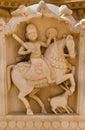 Image royale de cavalier dans les cénotaphes des règles antiques de maharajas dans des ruines de bada bagh également appelés Images libres de droits
