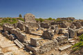 Image ruins ancient village located side turkey Royalty Free Stock Image