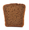 Image of rye bread slice isolated on white Stock Photos