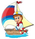 Image with sailor theme eps vector illustration Royalty Free Stock Photography