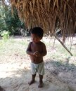 Native america child in the Amazon Royalty Free Stock Photo
