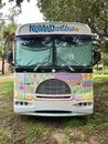Colorful Bus: Front View Royalty Free Stock Photo