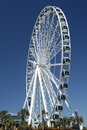 This image of the skywheel was taken from the beach side at myrtle beach sc the subject represents a landmark in that area and is Royalty Free Stock Photo