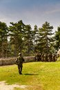 Image of soldiers in action Royalty Free Stock Photo