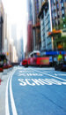 Image of steet life at Manhattan, New York Stock Images