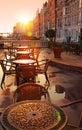 Image of street cafe