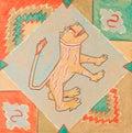 Image stylisée de lion asiatique Image stock