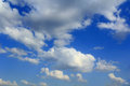 Image of summer fluffy sky the blue Royalty Free Stock Photo