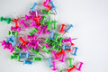 Image of tacks grouped together cluster showing concepts and ideas diversity Royalty Free Stock Photography