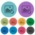 Image tagging color darker flat icons Royalty Free Stock Photo