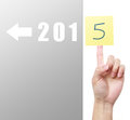 Into image to use in an optimistic view on year can be also used for review of the year Stock Images