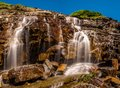 An Image of the Upper Level of the Big Bend Waterfall Royalty Free Stock Photo