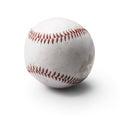 Image of used baseball  on white Royalty Free Stock Photo