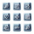Image viewer web icons Royalty Free Stock Images