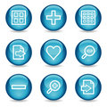 Image viewer web icons, glossy sphere series Royalty Free Stock Photo