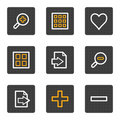 Image viewer web icons, grey buttons series Stock Photography