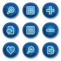 Image viewer web icons set 1, blue circle buttons Royalty Free Stock Photo