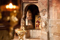 Image of the virgin mary in an old church Royalty Free Stock Image