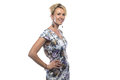 Image of woman in motley dress Royalty Free Stock Photo