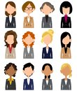 Women`s upper body icon material wearing a suit