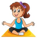 Image yoga theme vector illustration Stock Photos