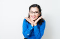 Image of a young woman with a lovely look and charming smile asia Stock Photos