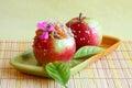 Imagem da sobremesa maçãs de doces fotos conservadas em estoque Imagem de Stock Royalty Free