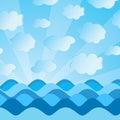 Imagem de ondas do mar Imagens de Stock Royalty Free