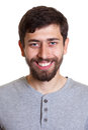 Imagem do passaporte de um homem novo com barba Imagens de Stock Royalty Free