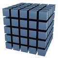 A imagem tridimensional de um jogo dos cubos Foto de Stock