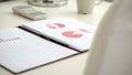 Imagen del documento de negocio con el gráfico rojo de la empanada Fotografía de archivo libre de regalías