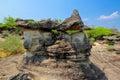The imagery stone garden,Pha Toeb,Muk Da Han Royalty Free Stock Photo