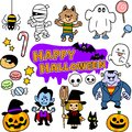 The images of Halloween illustration set Royalty Free Stock Photo