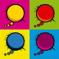 Imagination comics icons over colorfull background vector illustration Stock Photos