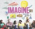 Imagine creative dream expect ideas vision concept Royalty Free Stock Photos