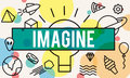 Imagine creative thinking vision dream expect concept Stock Image
