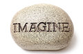 Imagine engraved on a rock. Royalty Free Stock Photo