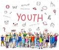 Imagine Kids Freedom Education Icon Conept Royalty Free Stock Photo