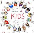 Imagine Kids Freedom Education Icon Conept