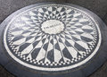 The Imagine mosaic at Strawberry Fields in Central Park, New York Royalty Free Stock Photo