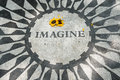 The Imagine mosaic at Strawberry Fields in Royalty Free Stock Photo