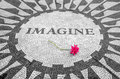 Imagine Sign in New York Central Park, John Lennon Memorial Royalty Free Stock Photo
