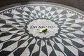 Imagine strawberry fields memorial a landscape of the mosaic of at central park new york city Stock Images