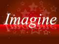 Imagine thoughts shows thoughtful creative and imagined meaning think inventiveness Stock Image