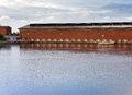 Imatra hydroelectric power station building finland Stock Photos